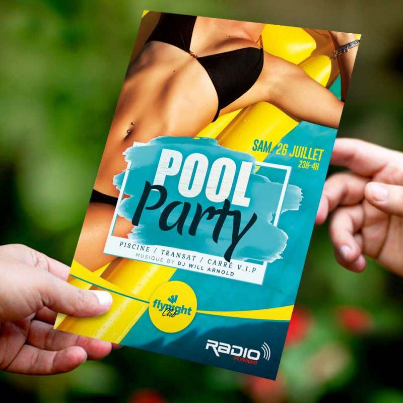 Pool Party : Summer Swim   Flyer designed by Flynight
